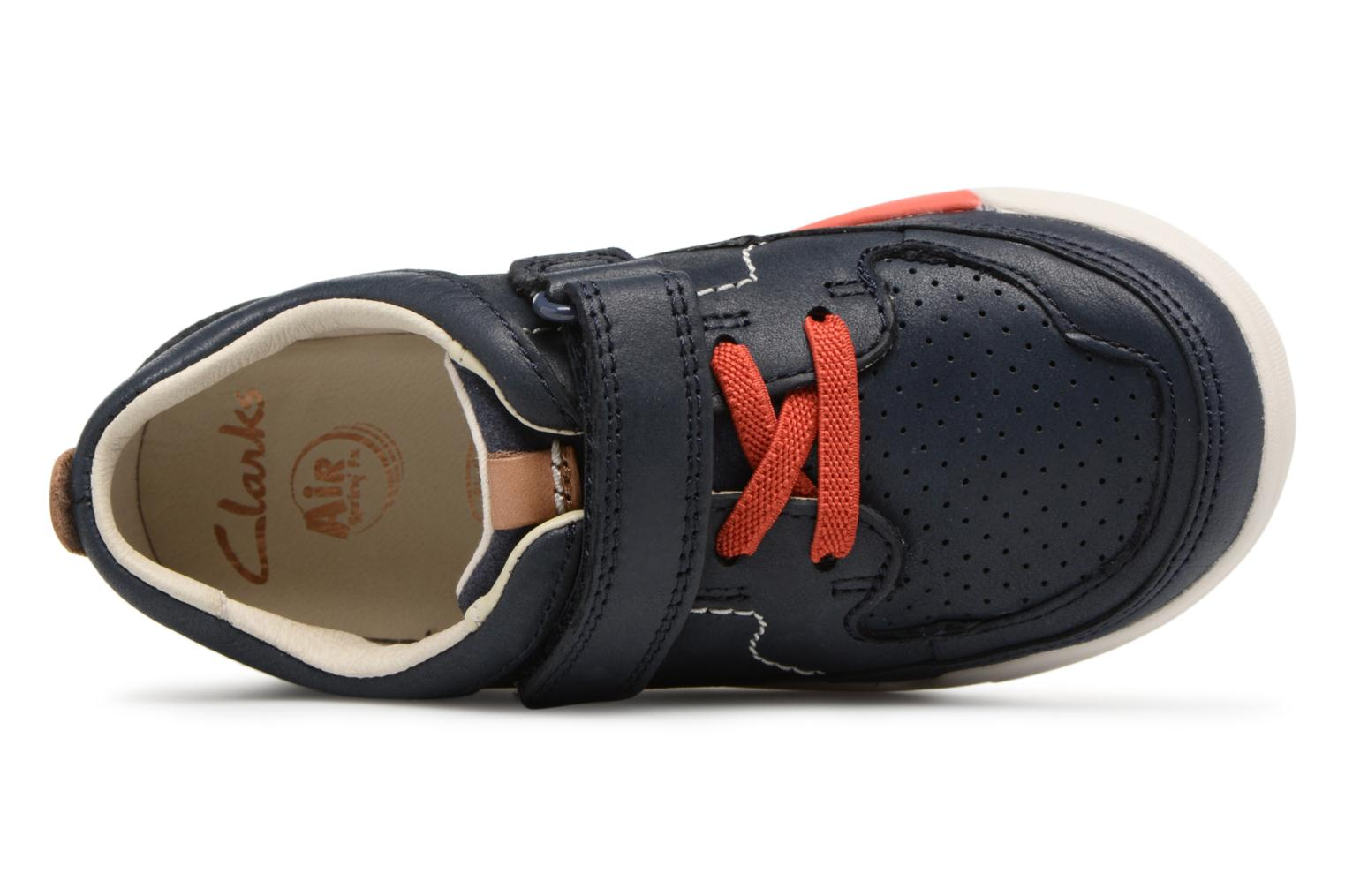 Trainers Clarks Mini Oasis Blue view from the left
