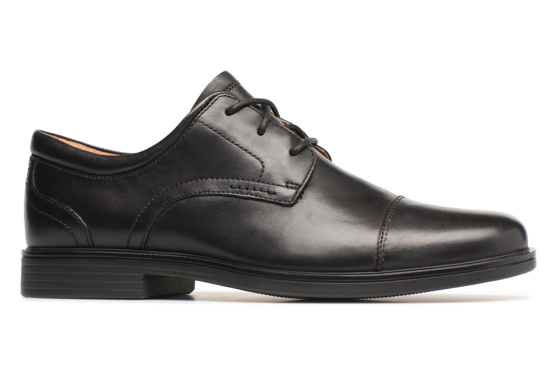 Chaussures à lacets Clarks Unstructured Un Aldric Cap Noir vue derrière