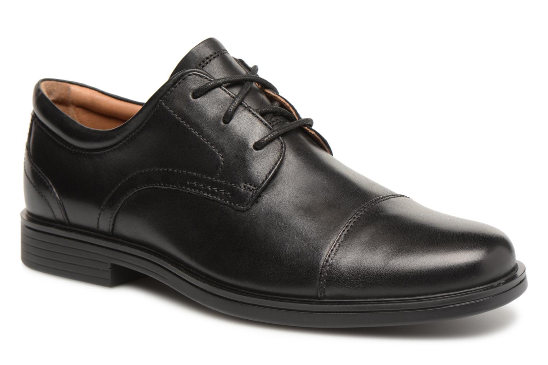 Chaussures à lacets Clarks Unstructured Un Aldric Cap Noir vue détail/paire