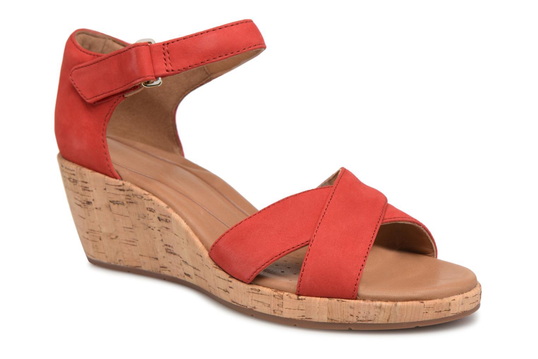 Clarks UN Plaza Cross Rouge - Chaussures Sandale Femme