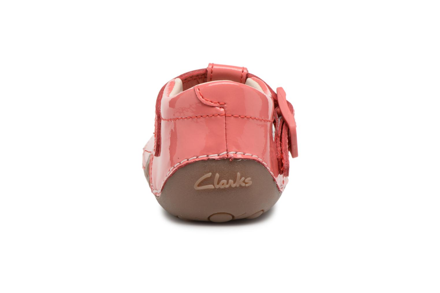 Ballet pumps Clarks Little Weave Pink view from the right
