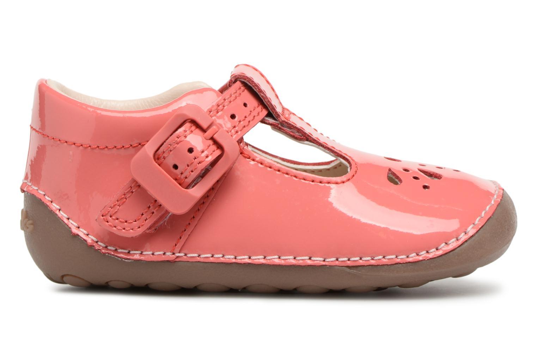 Ballet pumps Clarks Little Weave Pink back view