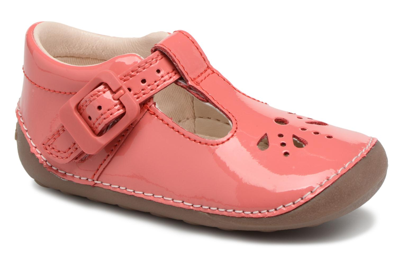 Ballet pumps Clarks Little Weave Pink detailed view/ Pair view