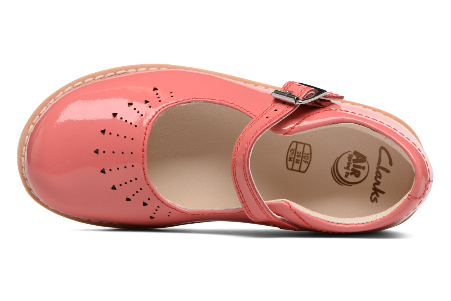 Ballet pumps Clarks Crown Jump Pink view from the left