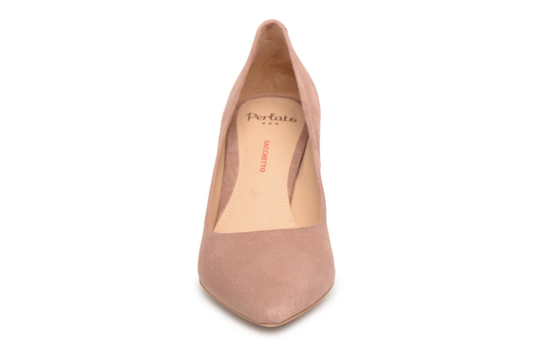 Escarpins Perlato Artémis Rose vue portées chaussures