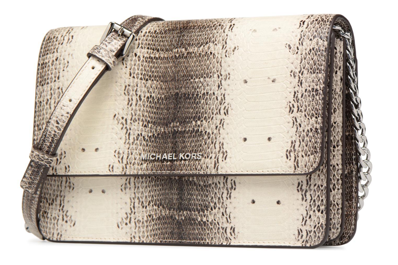 Bolsos de mano Michael Michael Kors LG Gusset Crossbody Beige vista del modelo