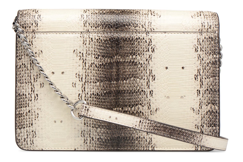 Bolsos de mano Michael Michael Kors LG Gusset Crossbody Beige vista de frente