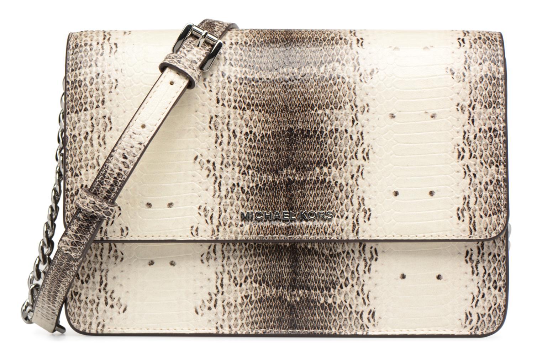 Bolsos de mano Michael Michael Kors LG Gusset Crossbody Beige vista de detalle / par