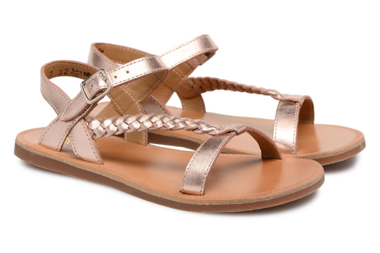 Sandales et nu-pieds Pom d Api Plagette Antik Argent vue 3/4