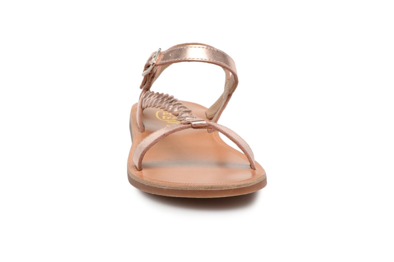Sandales et nu-pieds Pom d Api Plagette Antik Argent vue portées chaussures