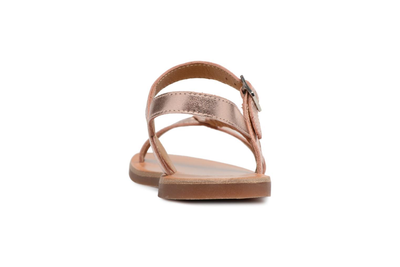 Sandales et nu-pieds Pom d Api Plagette Antik Argent vue droite