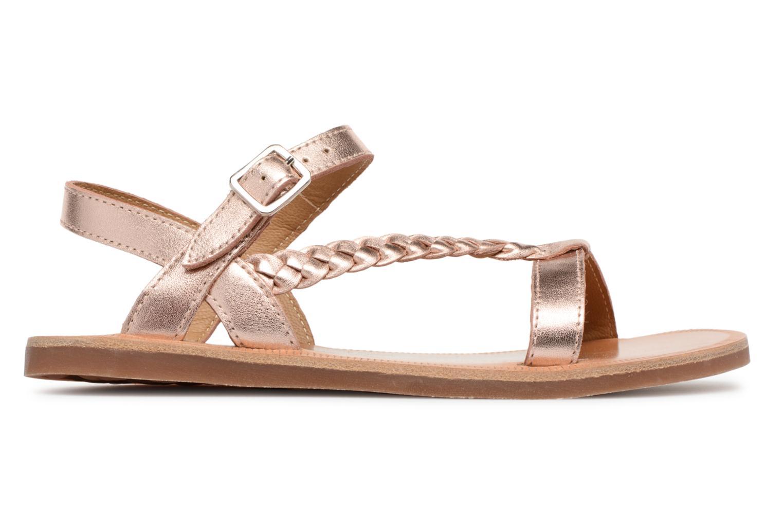 Sandales et nu-pieds Pom d Api Plagette Antik Argent vue derrière
