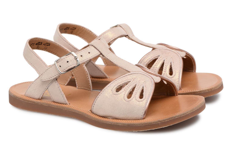 Sandales et nu-pieds Pom d Api Plagette Daisy Rose vue 3/4