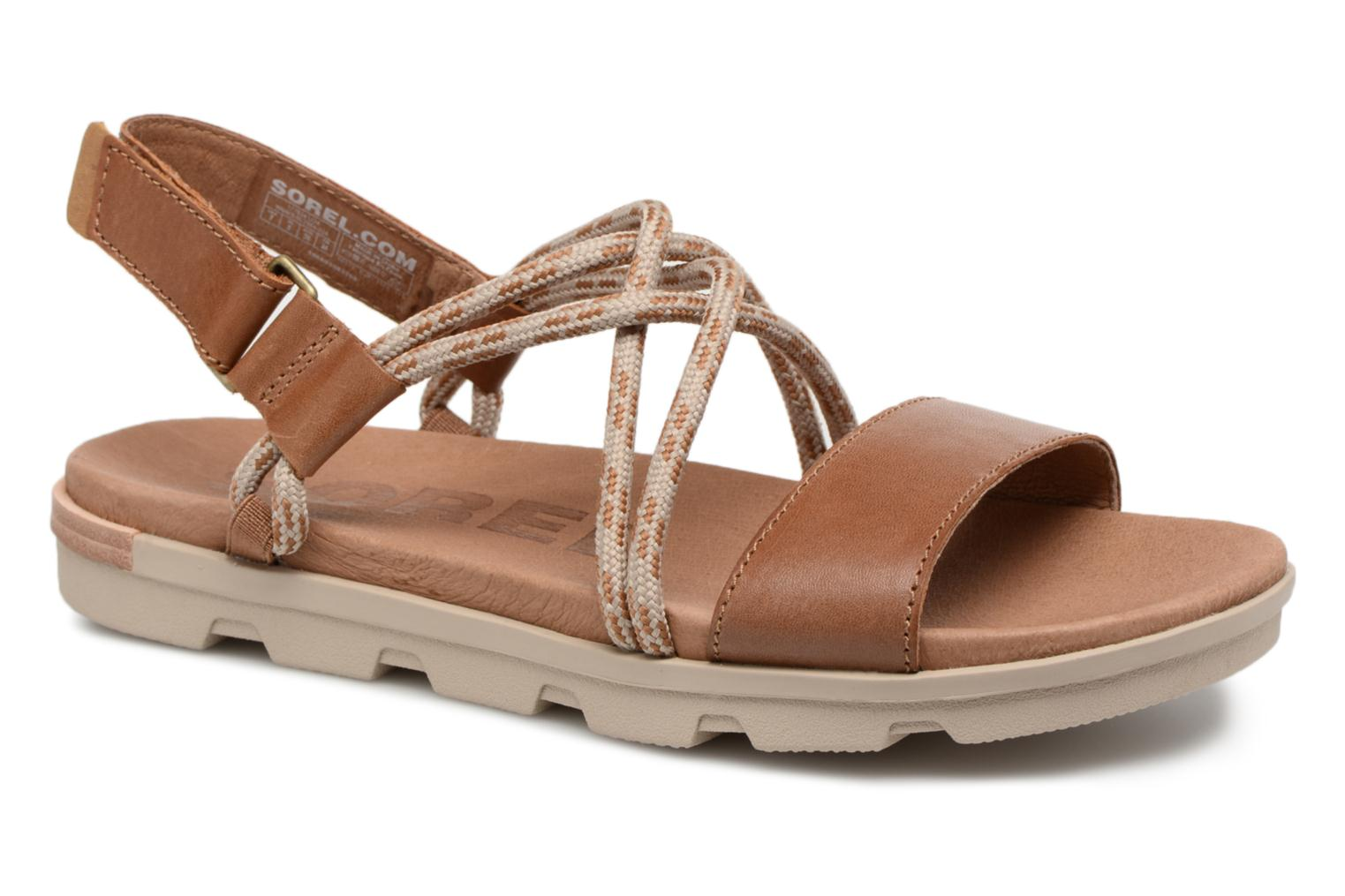 Marques Chaussure femme Sorel femme Torpeda Sandal II Camel Brown Ancient Fossil