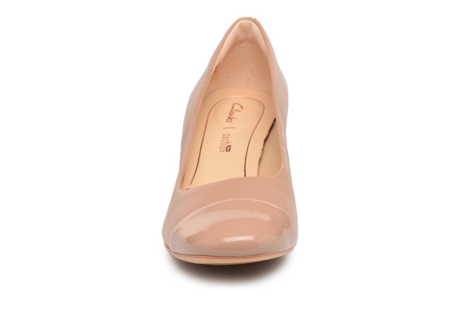 High heels Clarks Orabella Mia Beige model view