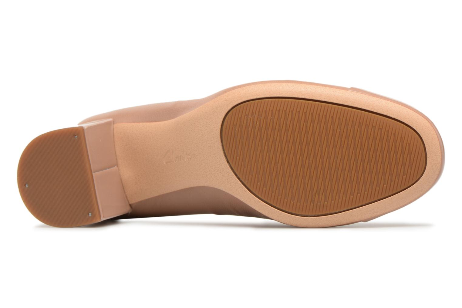 High heels Clarks Orabella Mia Beige view from above