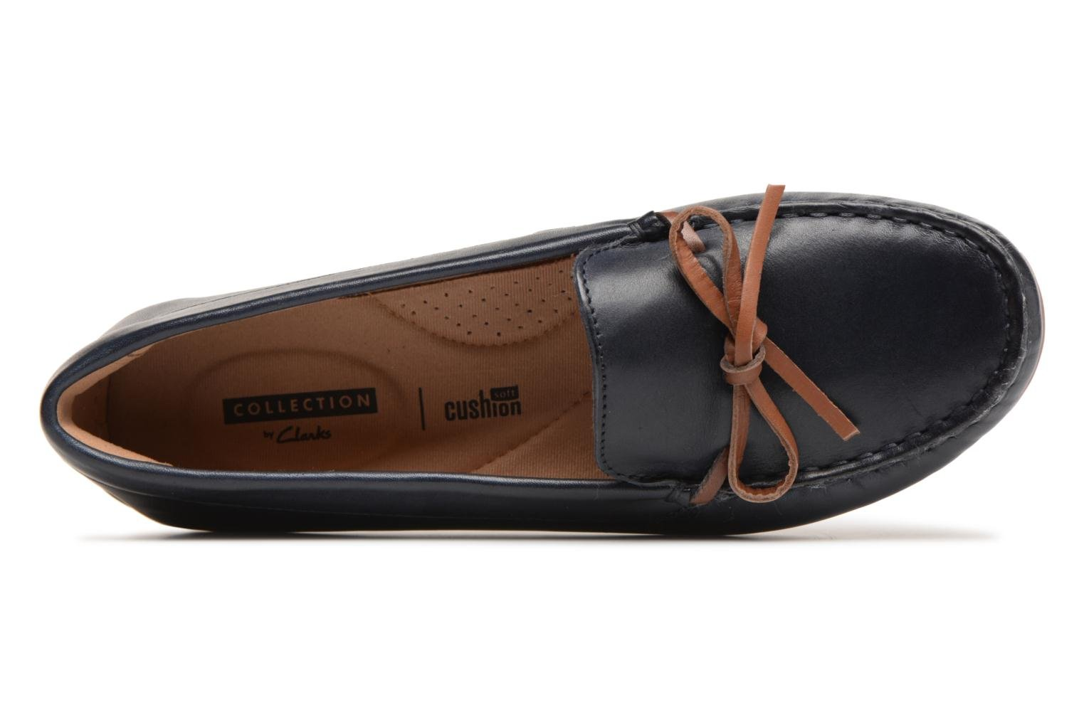 Loafers Clarks DAMEO SWING Blue view from the left