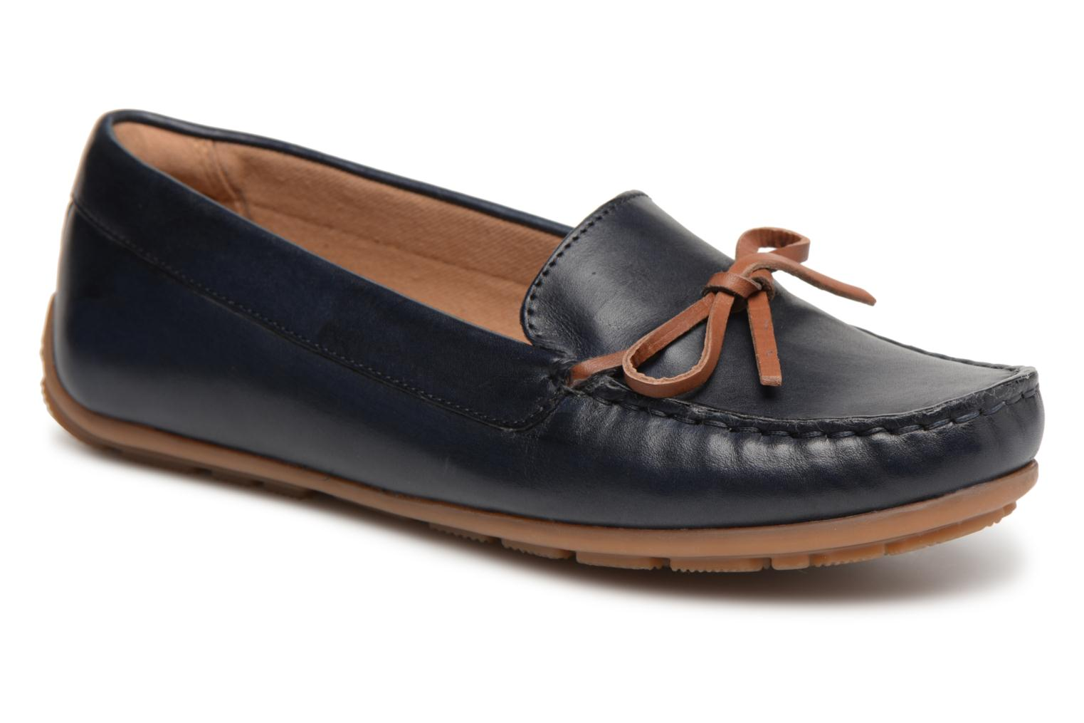 Loafers Clarks DAMEO SWING Blue detailed view/ Pair view
