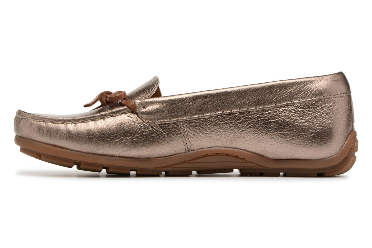 Loafers Clarks DAMEO SWING Bronze and Gold front view