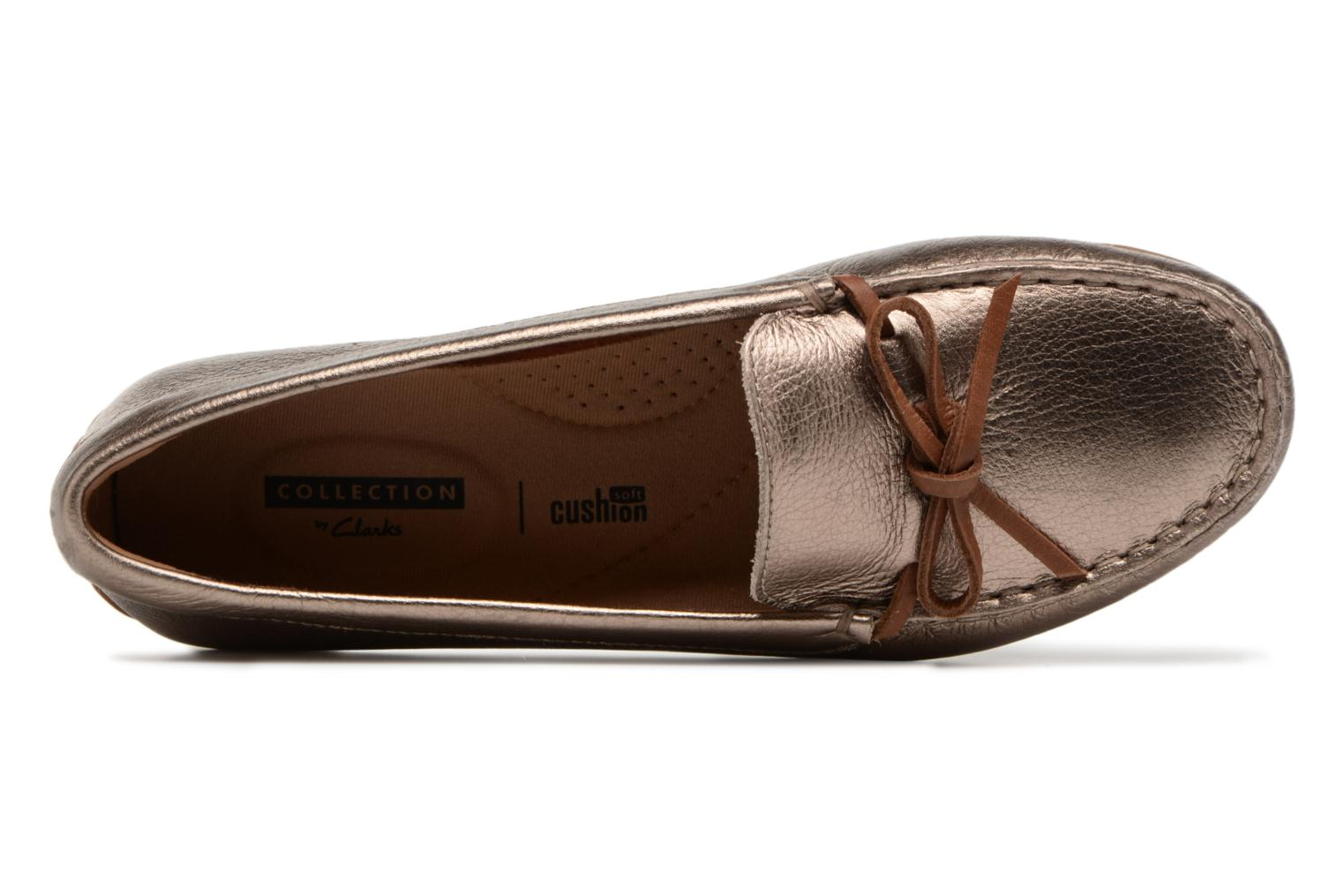 Loafers Clarks DAMEO SWING Bronze and Gold view from the left