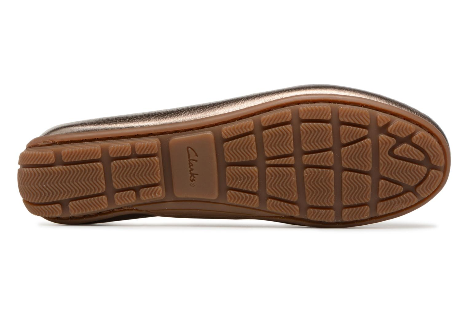 Loafers Clarks DAMEO SWING Bronze and Gold view from above