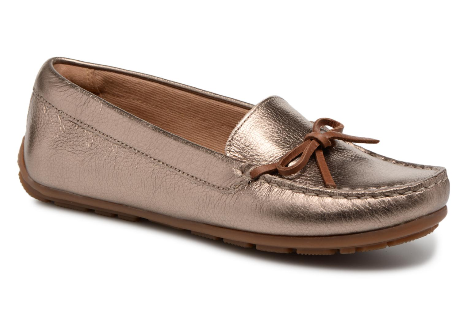 Loafers Clarks DAMEO SWING Bronze and Gold detailed view/ Pair view