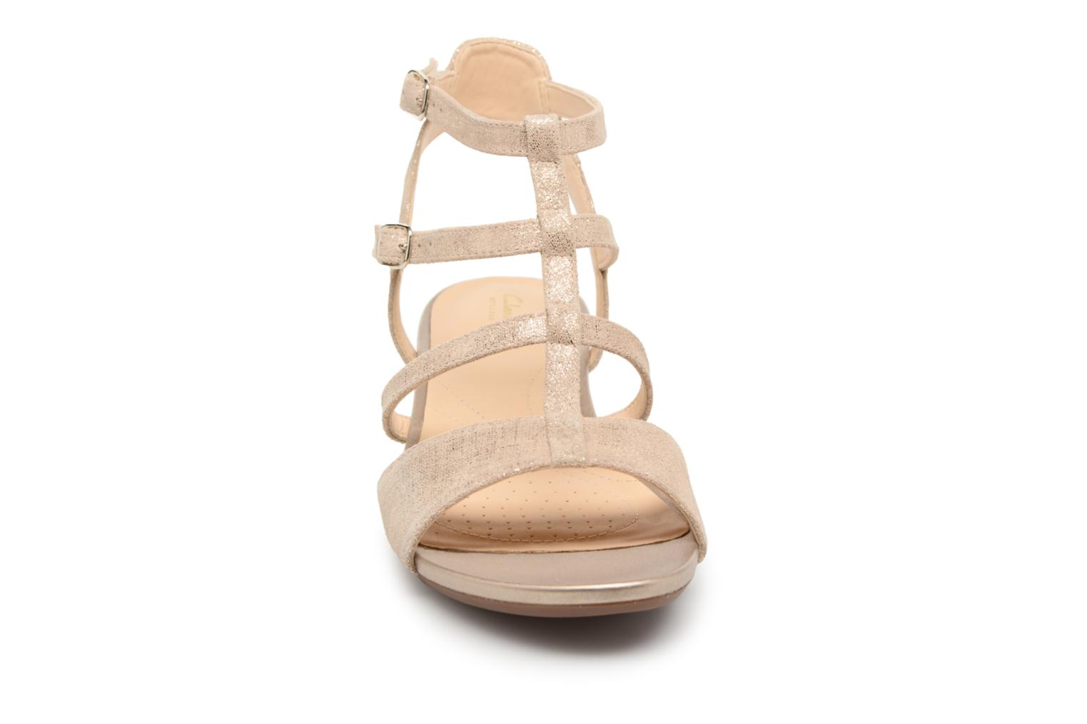 Sandals Clarks Parram Spice Bronze and Gold model view