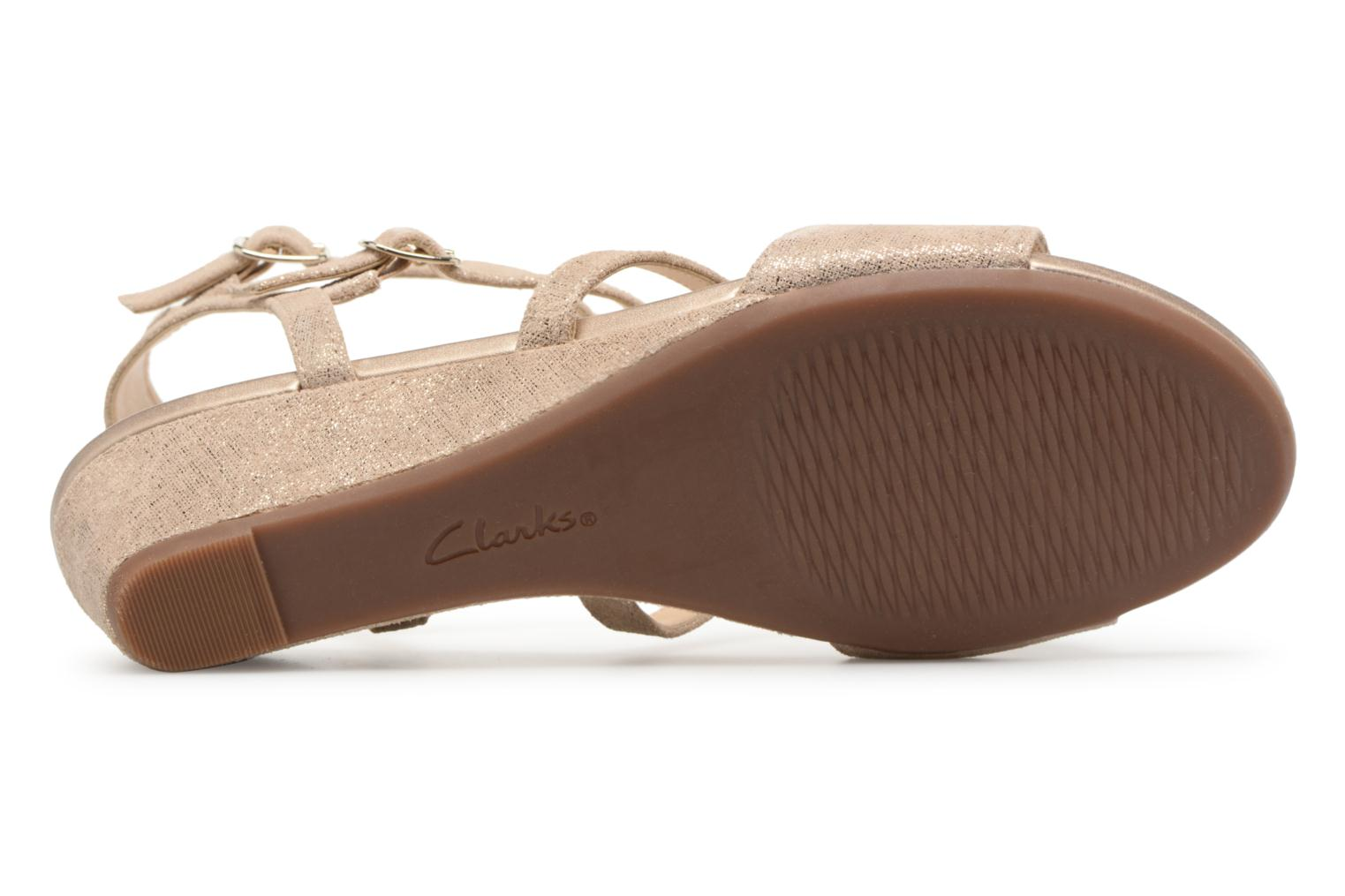 Sandals Clarks Parram Spice Bronze and Gold view from above