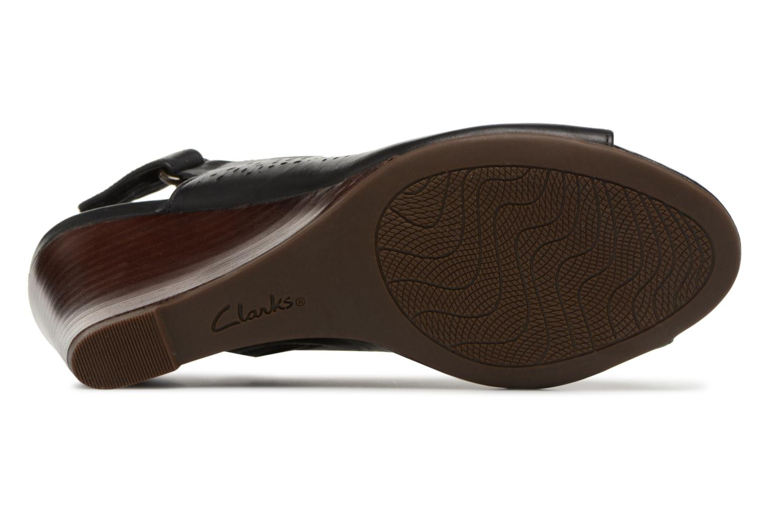 Sandals Clarks Raven Dawn Black view from above