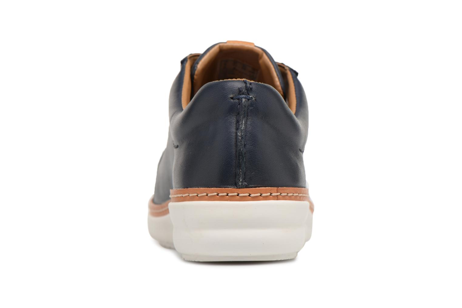 Lace-up shoes Clarks Amberlee Rosa Blue view from the right