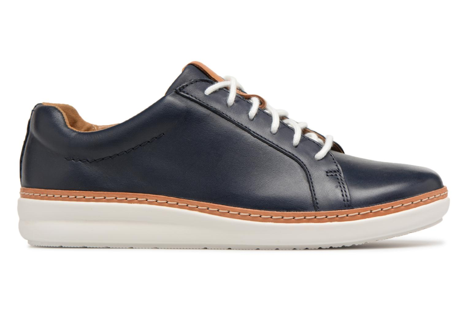 Lace-up shoes Clarks Amberlee Rosa Blue back view