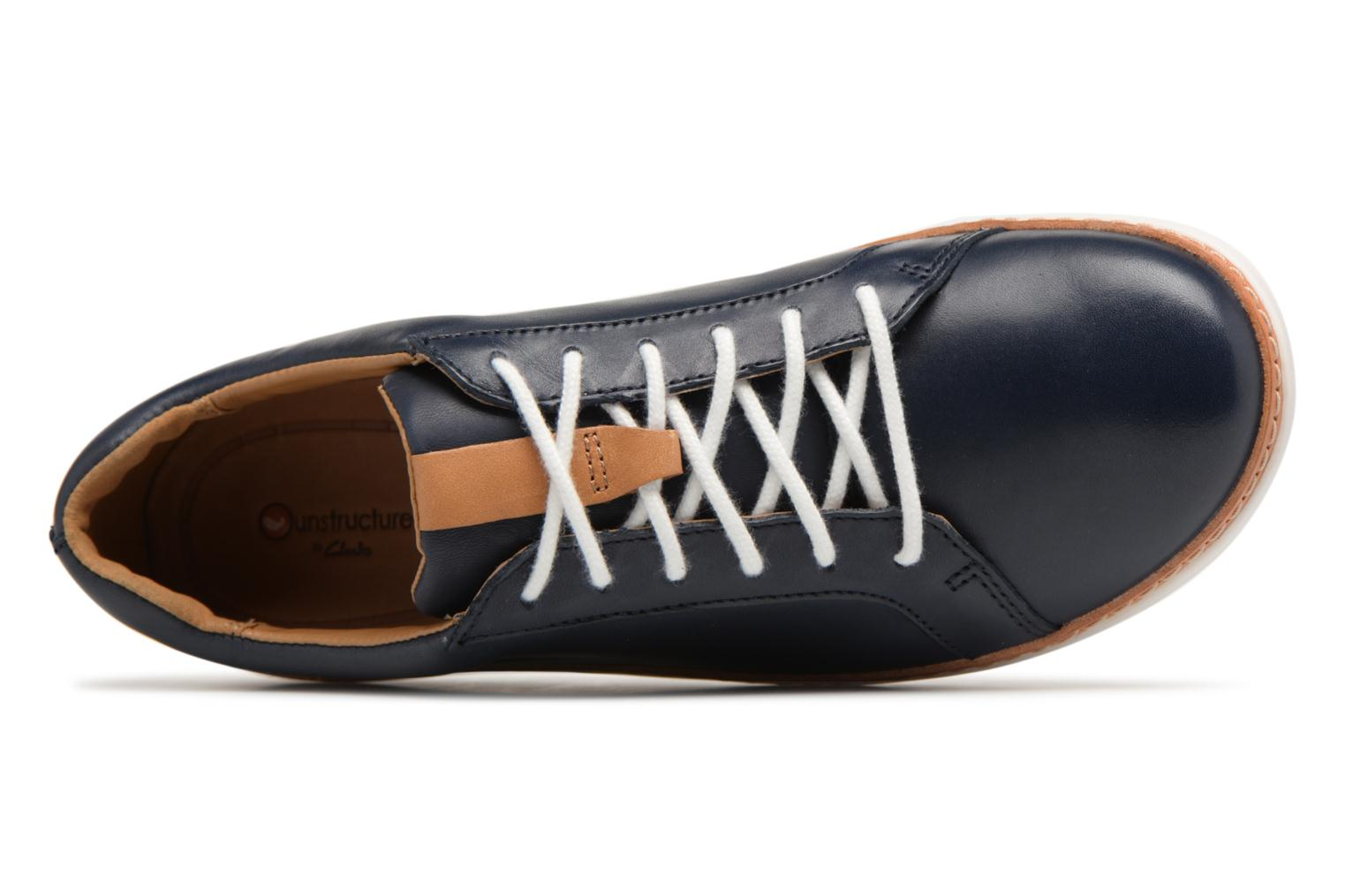 Lace-up shoes Clarks Amberlee Rosa Blue view from the left