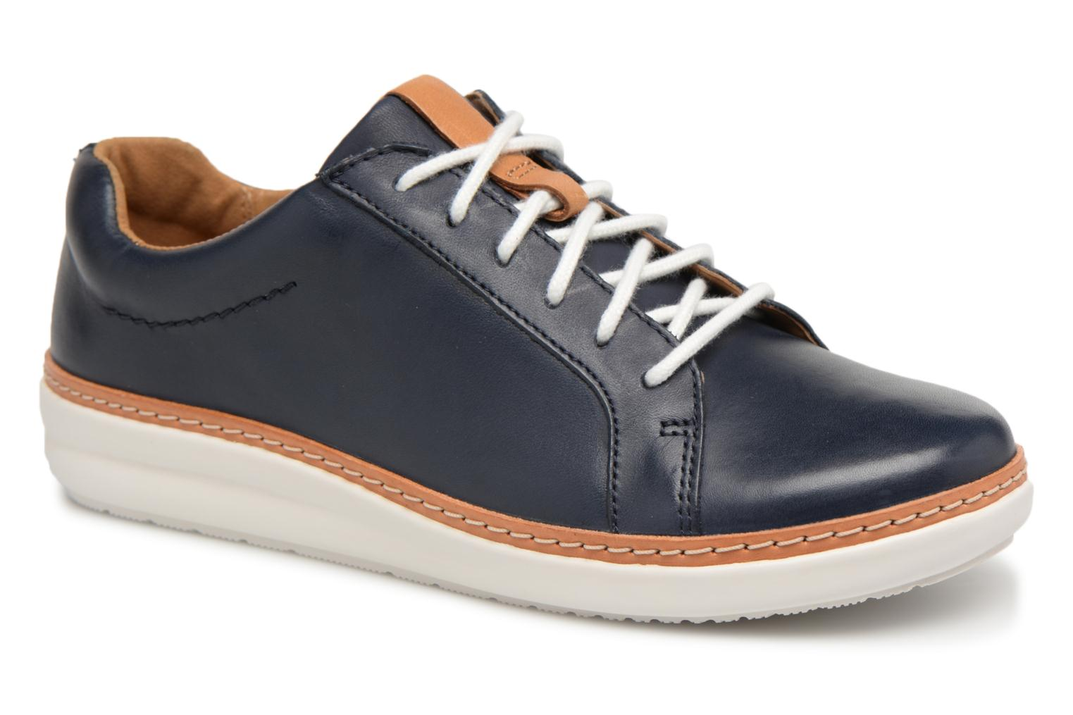 Lace-up shoes Clarks Amberlee Rosa Blue detailed view/ Pair view