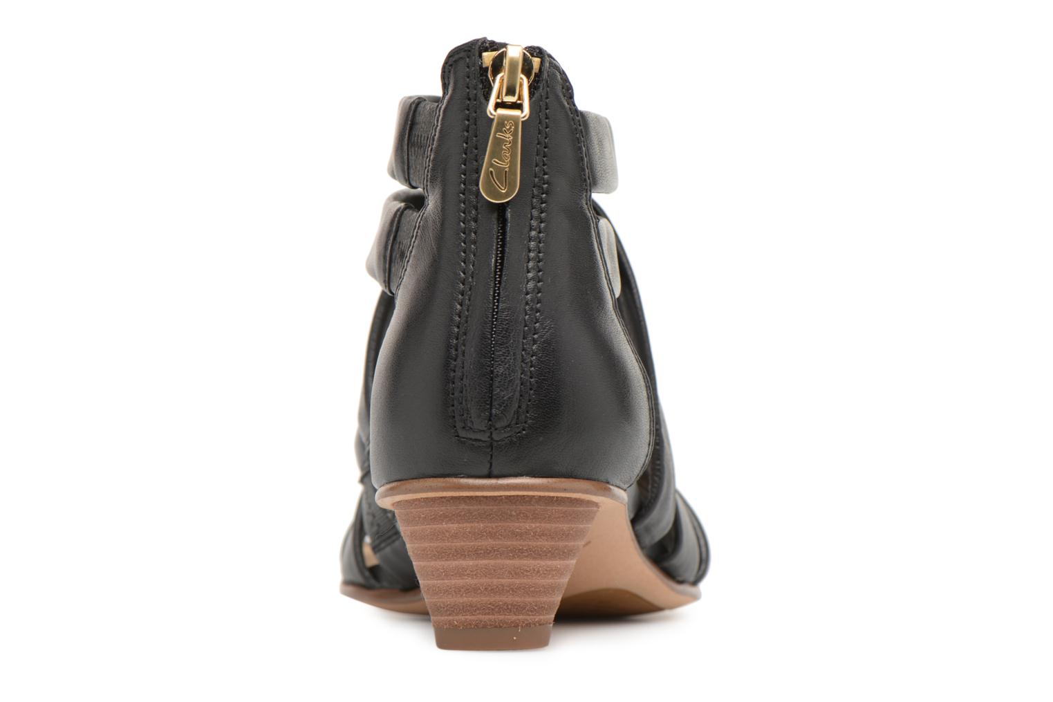 Sandals Clarks Mena Silk Black view from the right