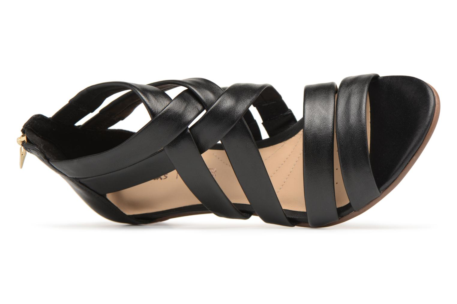 Sandals Clarks Mena Silk Black view from the left