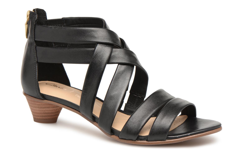 Sandals Clarks Mena Silk Black detailed view/ Pair view