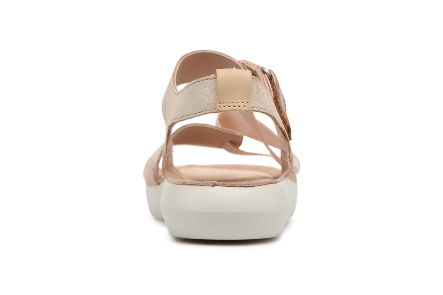 Sandals Clarks Tri Clover Pink view from the right