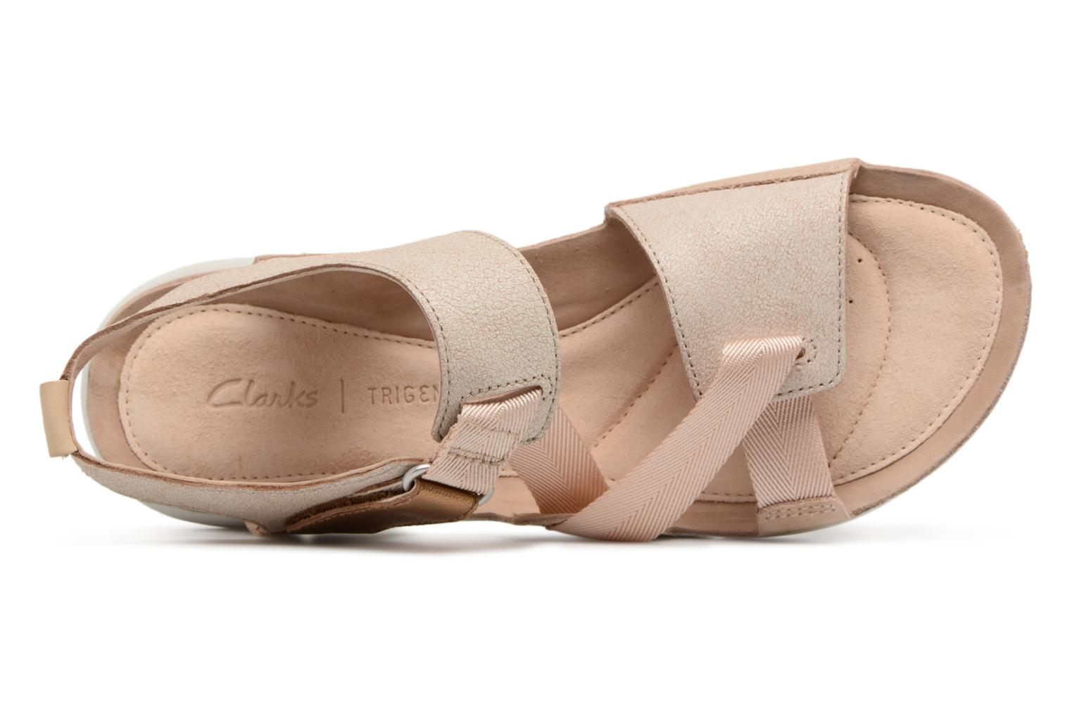 Sandals Clarks Tri Clover Pink view from the left