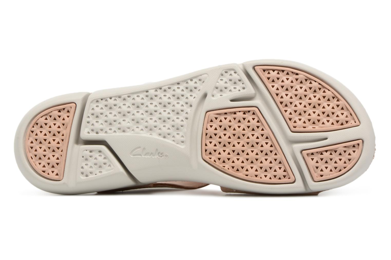 Sandals Clarks Tri Clover Pink view from above