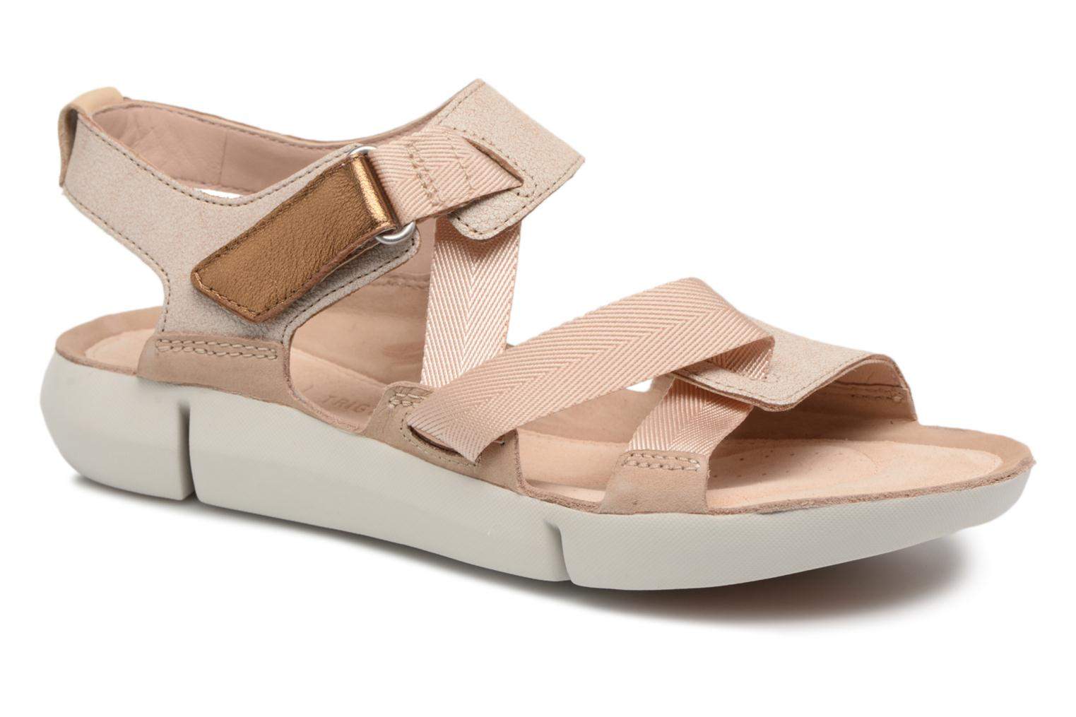 Sandals Clarks Tri Clover Pink detailed view/ Pair view