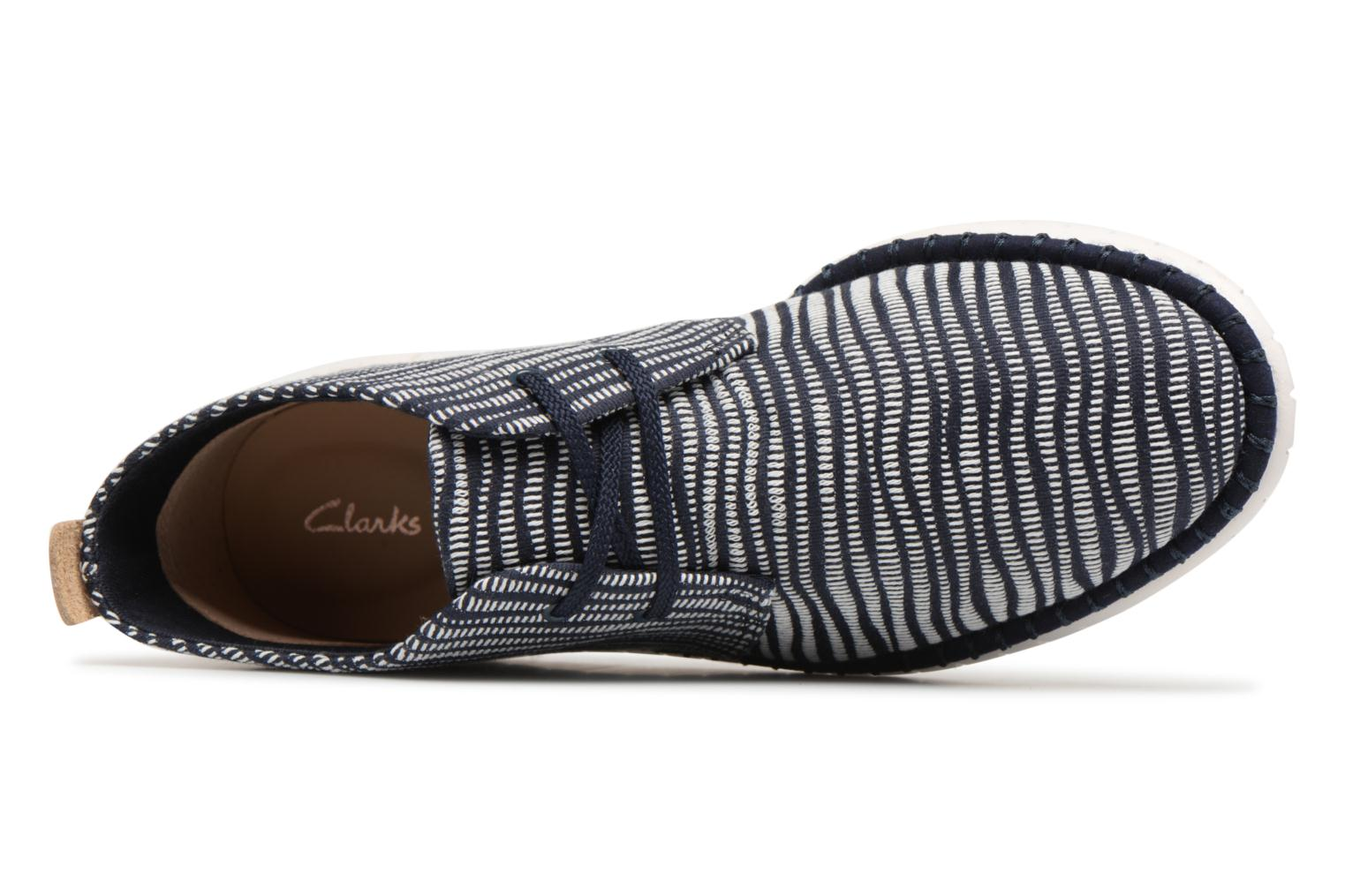 Lace-up shoes Clarks MZT Liberty Blue view from the left