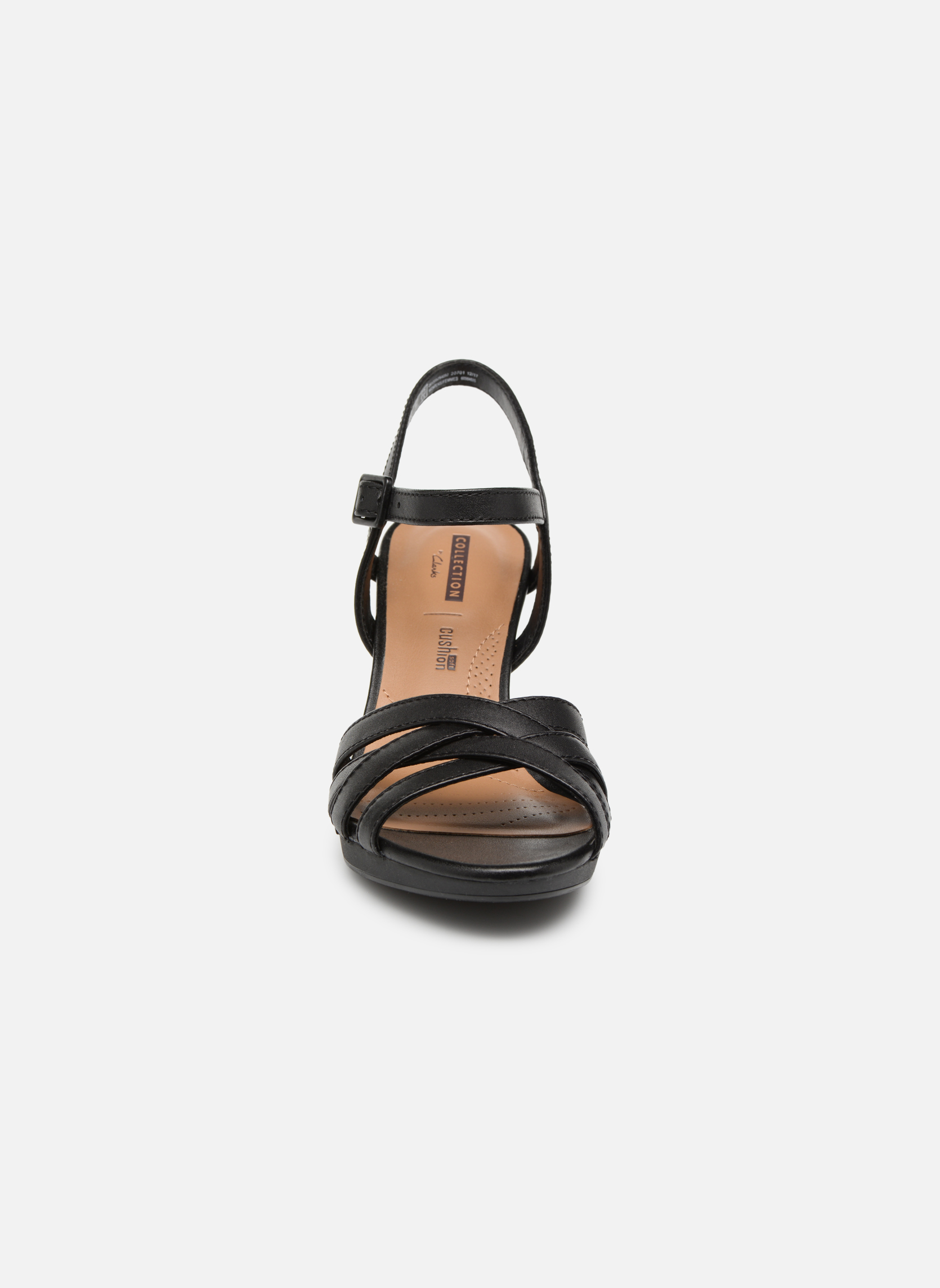 Sandals Clarks Adriel wavy Black model view