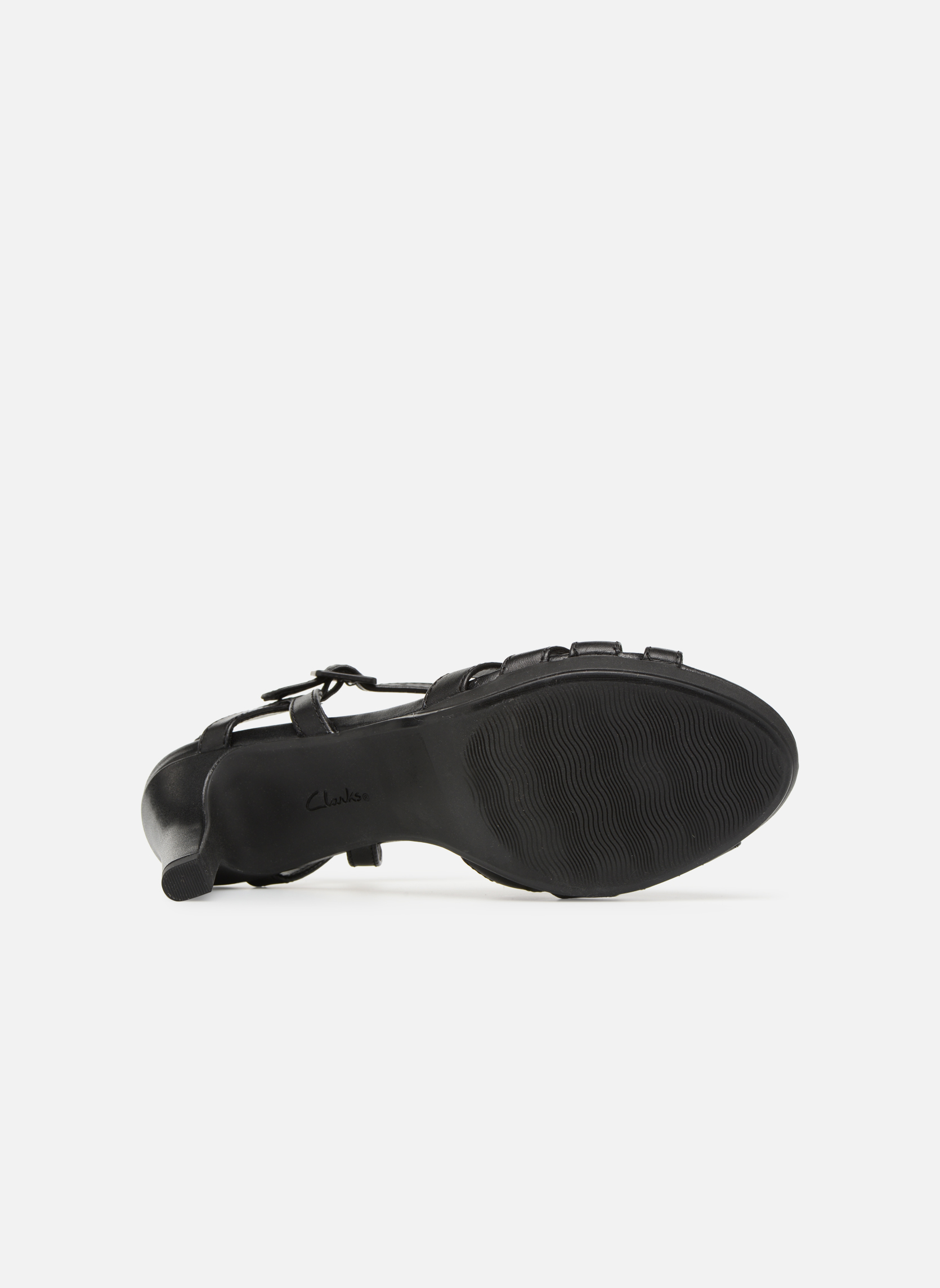 Sandals Clarks Adriel wavy Black view from above