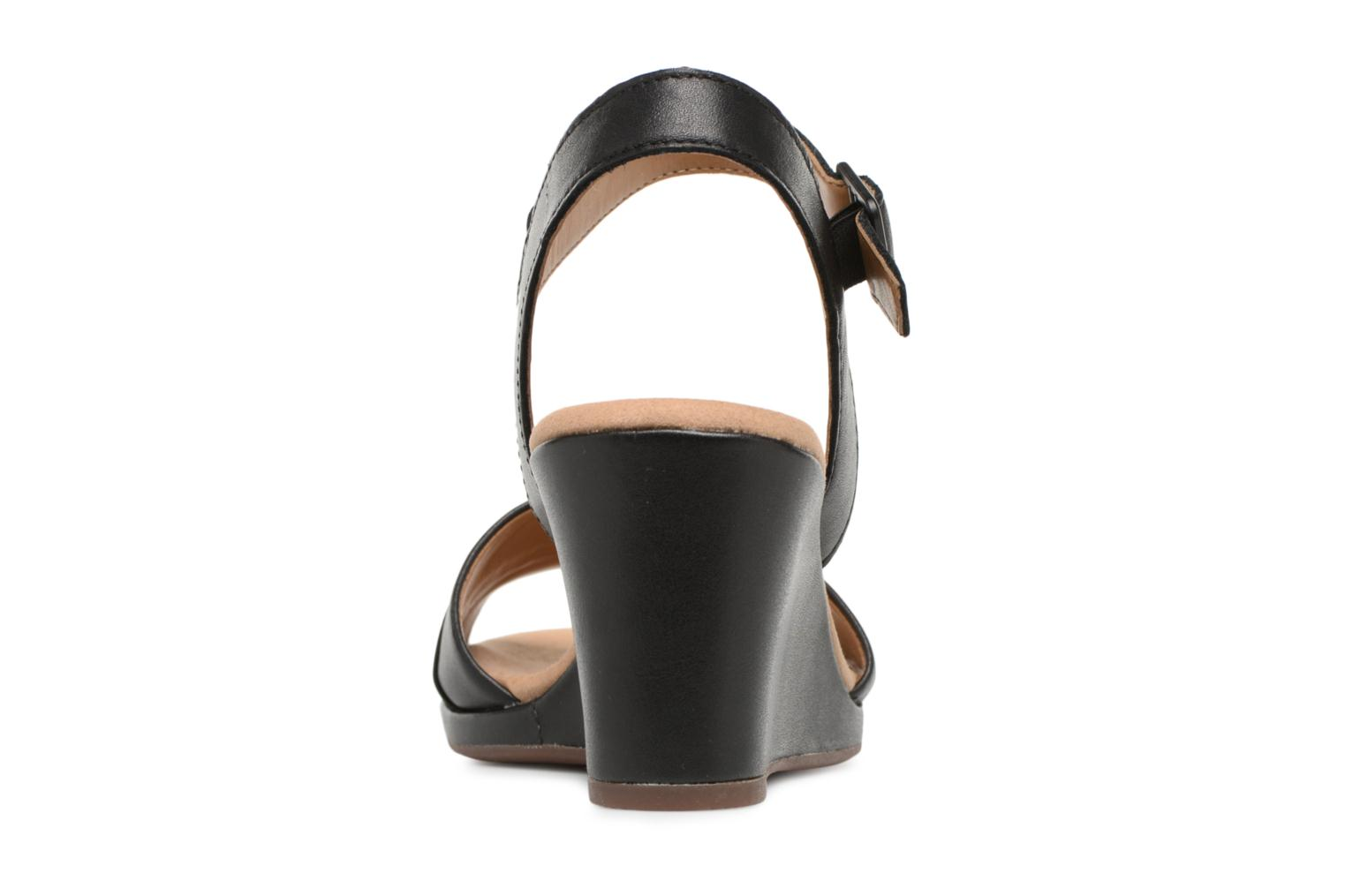 Sandals Clarks Lafley aletha Black view from the right