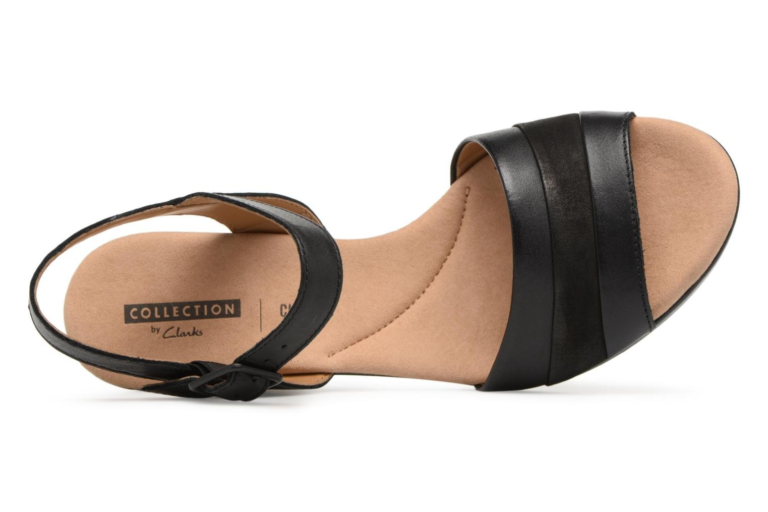 Sandals Clarks Lafley aletha Black view from the left