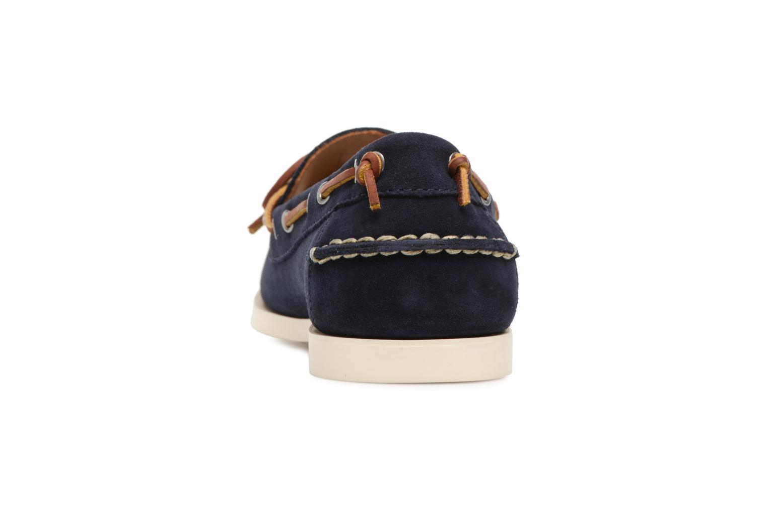 Lace-up shoes Polo Ralph Lauren Millard Blue view from the right
