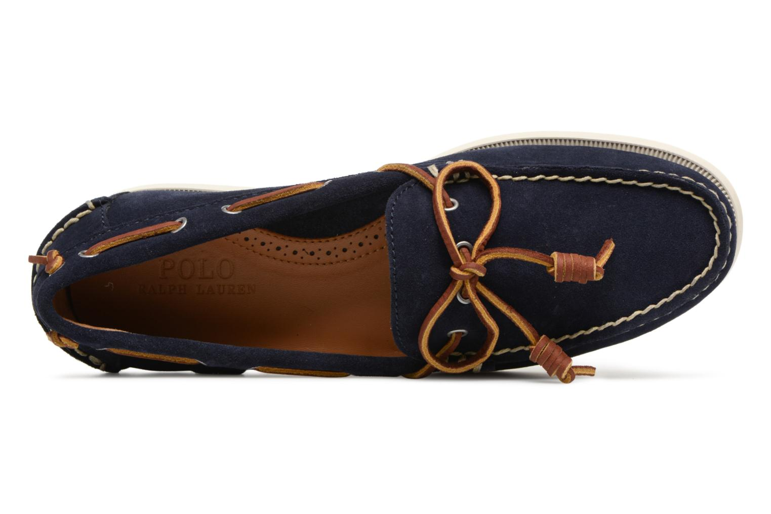 Lace-up shoes Polo Ralph Lauren Millard Blue view from the left