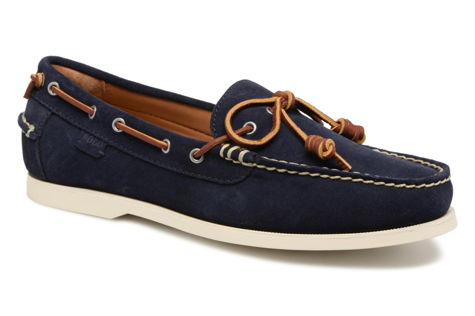 Lace-up shoes Polo Ralph Lauren Millard Blue detailed view/ Pair view