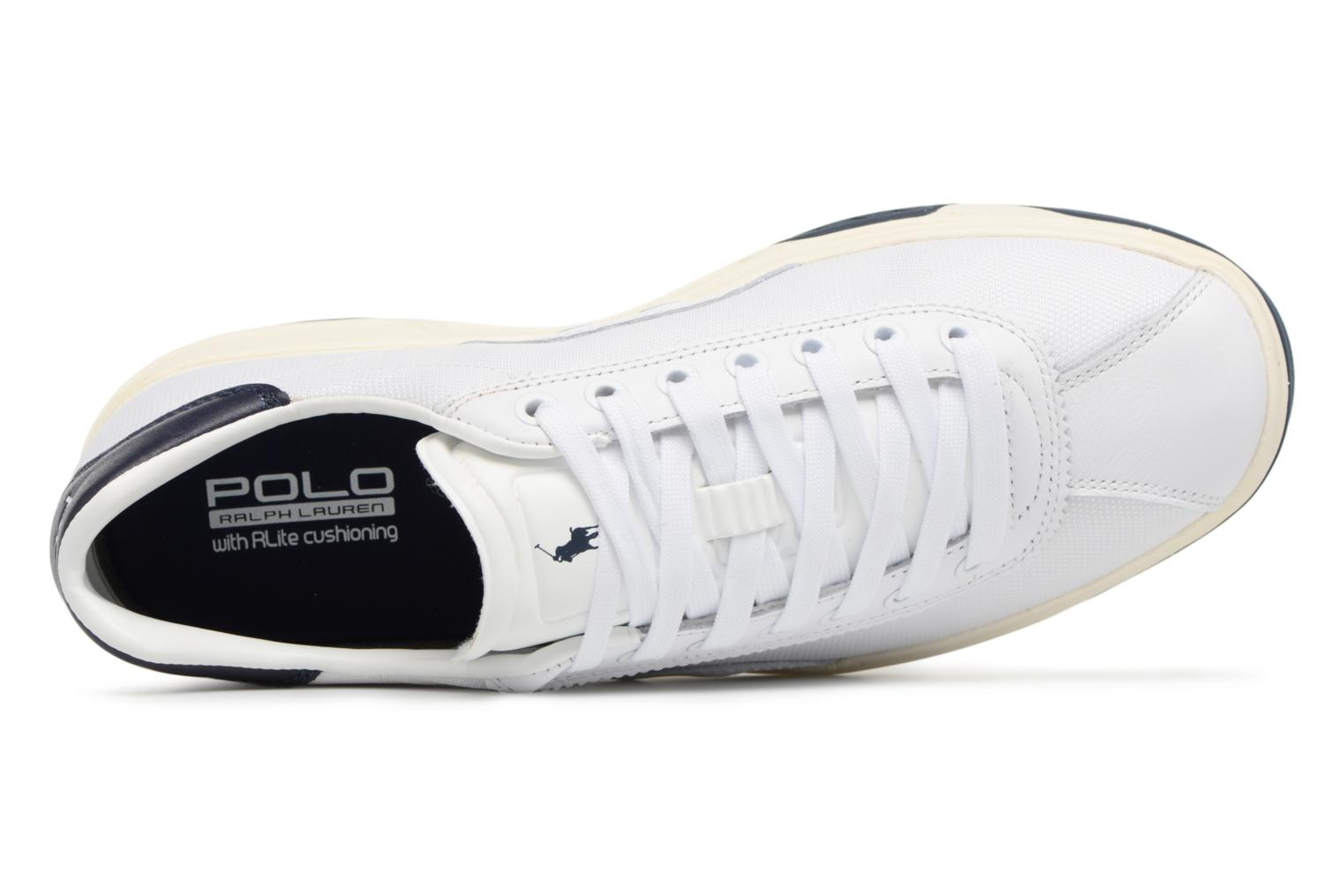Trainers Polo Ralph Lauren Court100 White view from the left