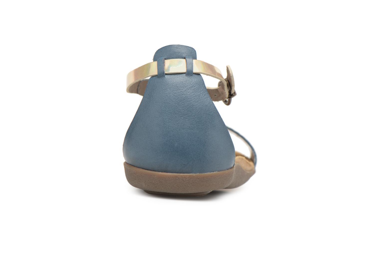 Sandales et nu-pieds Kickers Amistad Bleu vue droite